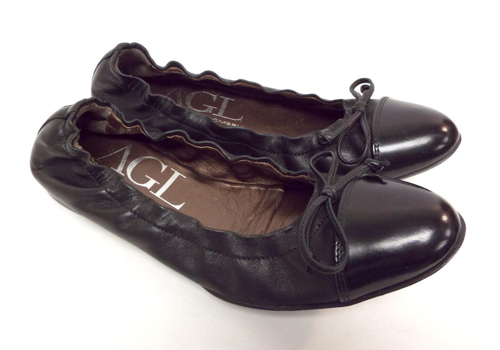 Attilio Giusti Leombruni AGL Size 6 SLEEK Black Ballet Flats Shoes 36