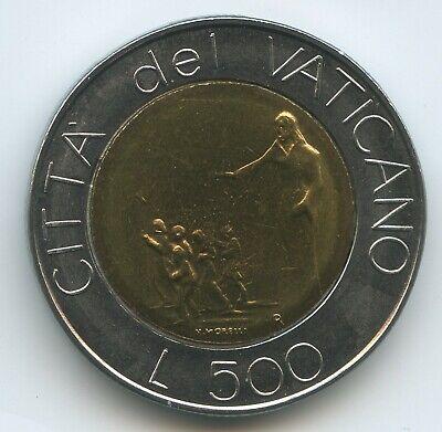 Vatikan 500 Lire 1991-xiii Km#233 Unc Johannes Paul Ii.1978-2005 Vatican Vor Euro-einführung Ernst G1677 Bimetallmünzen