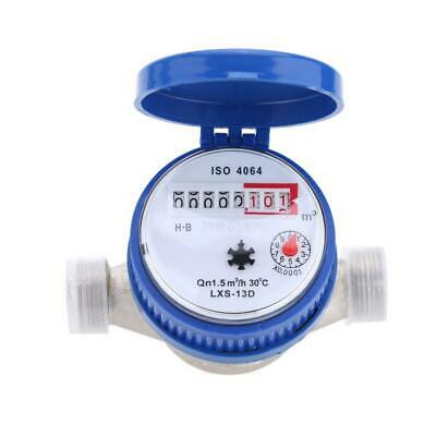"""Details about  /1//2/"""" 15mm Water Flow Measuring Meter Copper Cold Dry Counter For Home and Garden"""