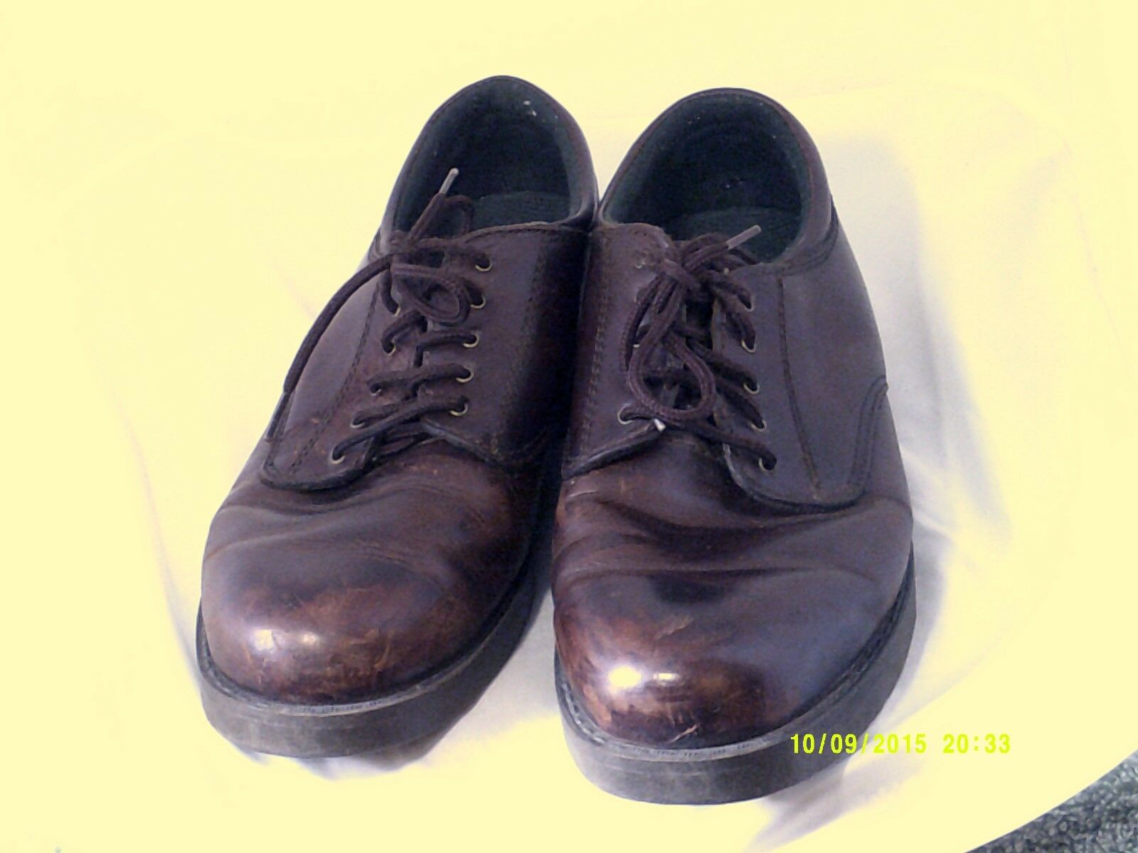 DEERSTAGS Men's Brown BRENTWOOD Leather Upper sz 7.5 Oxford lace up shoes.
