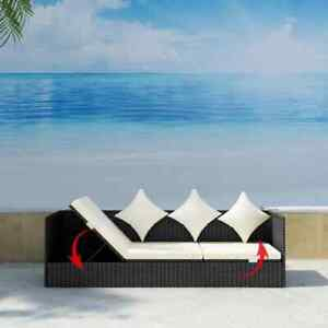 Outdoor-Patio-Sun-Lounger-Sofa-Bed-Rattan-Wicker-with-Soft-Seat-Cushion-amp-Pillow