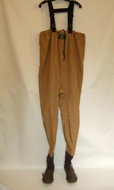 Vintage Orvis Fly Fishing Wader Overalls with Attached Rubber Boots Sz. XL