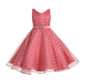 Organza-Polka-Dot-Flower-Girl-Dress-Pageant-Dresses-Graduation-Dress-Bridesmaid