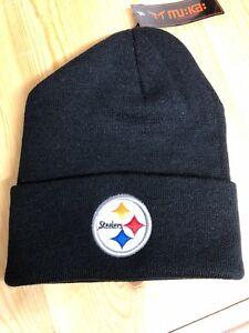 Pittsburgh Steelers Black Cuffed Beanie , New Winter Hat, Scull Cap