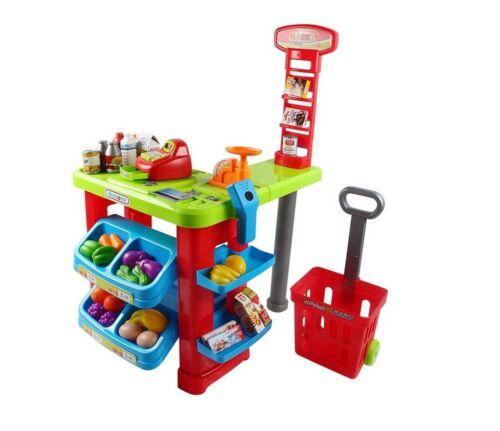 Super Market Cash Register Store Toy Play Set With Sound Kids New
