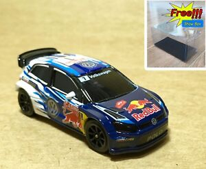 Majorette-Volkswagen-VW-Polo-R-WRC-Red-Bull-Car-1-57-no-Package-Free-Display-Box