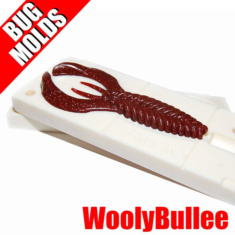 Lure Bait Mold Soft Plastic Molde de Cebo Köderform Moule d'appât Woolly Bullee