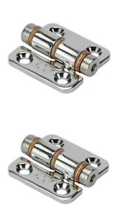 2 x Hinges Stainless Steel Top Mount Friction Hinges Livewell Tank Boat Hatch