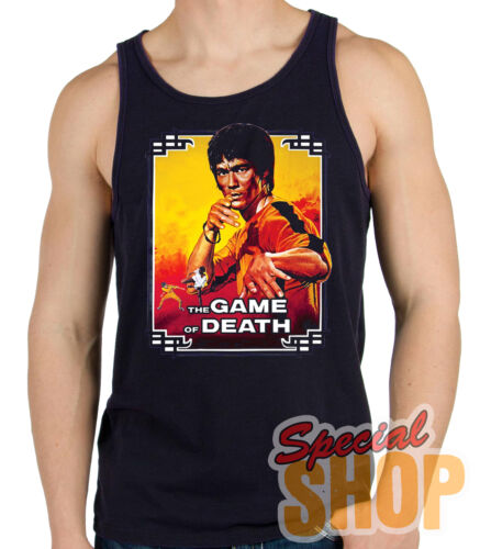 Hosenträger A T-Shirt Bruce Lee,The Game Of Death,Martial Arts T-Shirt-Klein