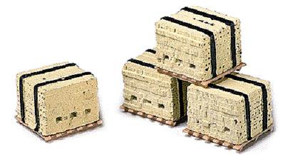 HO MIB 4 Model Railstuff # 540 Banded Concrete Blocks on Pallets pkg