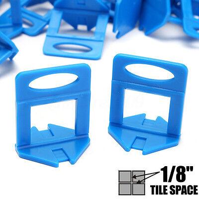 "400X 1/8"" Tile Leveling System Clips Wall / Floor Tile Level Spacer Tiling 3 mm"