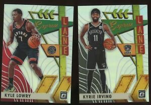2019-20-Panini-Optic-KYRIE-IRVING-KYLE-LOWRY-SILVER-HOLO-Prizm-Refractor-Insert