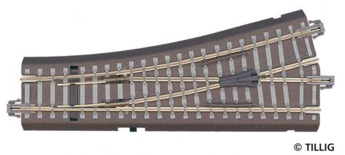 TT 1//120 Tillig 83817 Weiche links 15° Bettungsgleis grau Neuware OVP
