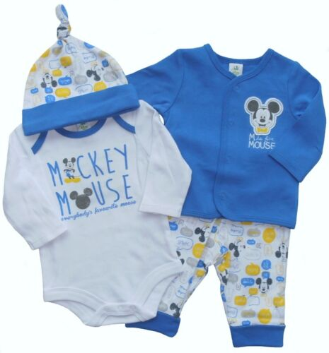 Nouveau Bébé Garçons Veste body pantalon bonnet set Mickey taille 62 68 englandmode