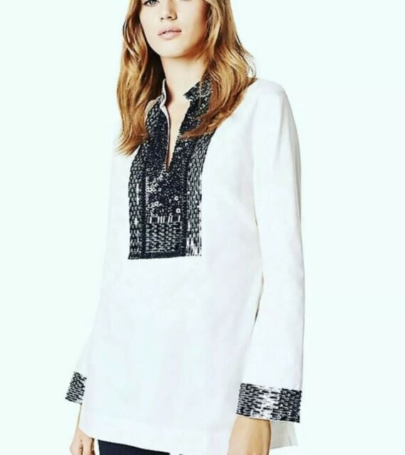 Embellished Tory Tunics ALL SIZES TORY BURCH TUNIC WOMENS Shirt