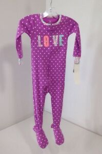 Clothing, Shoes & Accessories Sleepwear Carter's Toddler Girls Love/hearts Footed One Piece Lav/multi 24m Nwt $20