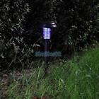 Solar Power UV Garden Lawn LED Light Lamp Pest Bug Zapper Insect Mosquito Killer