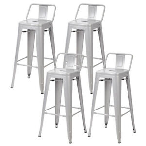 30 Metal Frame Tolix Style Bar Stools Industrial Chair With Back