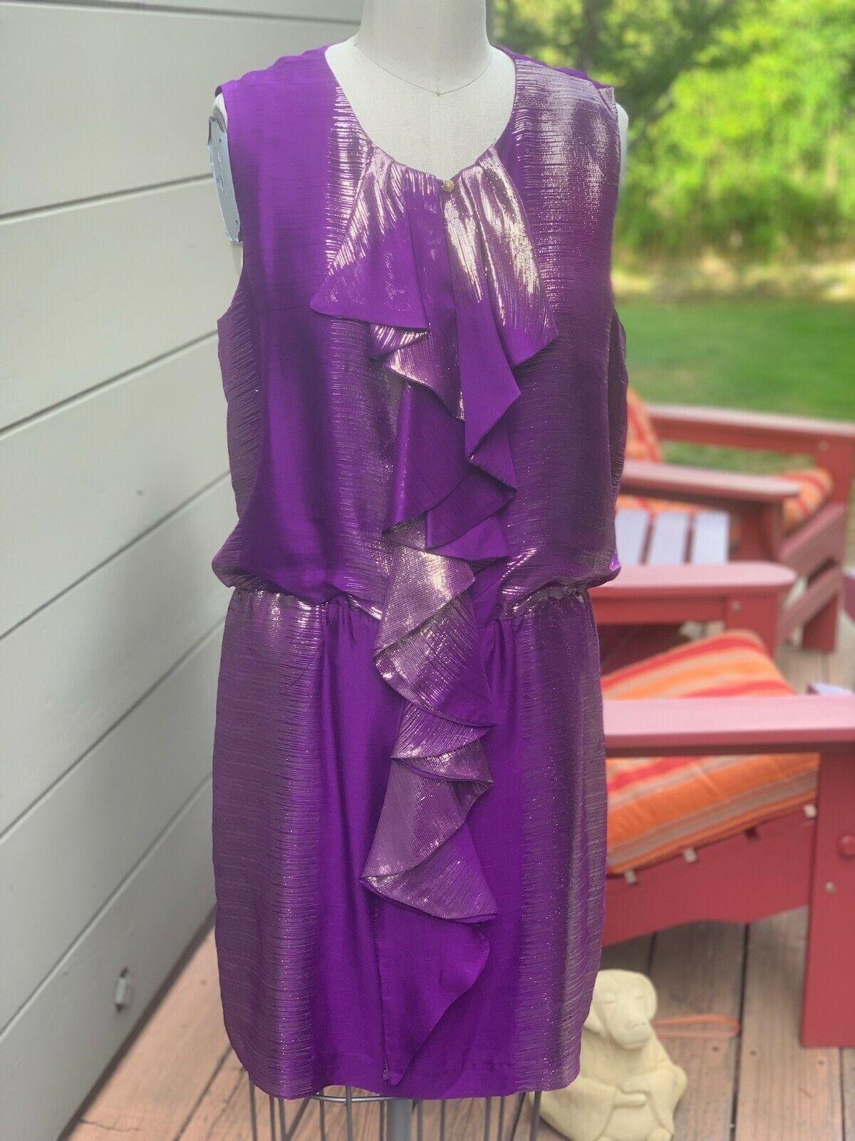 NWT sålde ut Trina Turk Bizet Dress in lila - Storlek 12