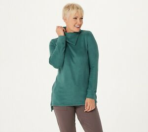 Cuddl-Duds-Fleecewear-Pullover-Tunic-Top-Juniper-Green-Size-XS-A381712