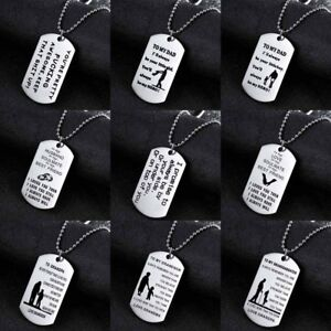 e29425b6aa To My Son Dog Tags Love Mom Dad Necklace Pendant Gift For Daughter ...