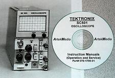 Tektronix Sc501 Oscilloscope Instruction Manual Opsampservice