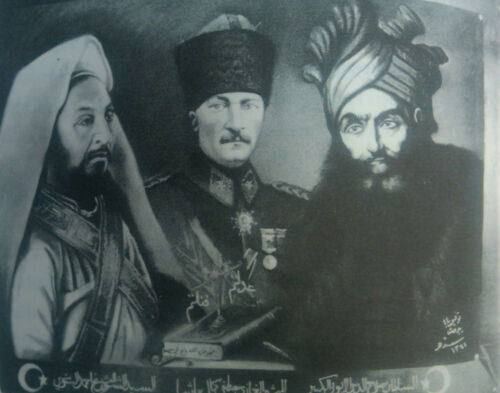 Ahmed Sharif as Senussi and Saladin Repro Art Print 7x5 inches 1922, Ataturk