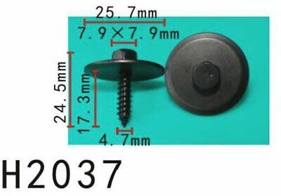 """5x 7.9mm Hex23//32/"""" Car Phillips Oval Sems Washer Tapping Screws Fender Body"""