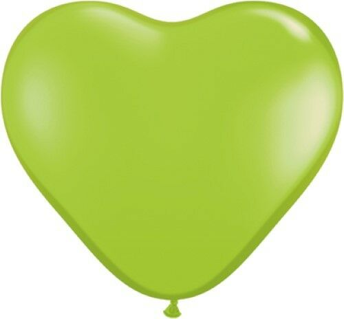 """Pack of 6 Qualatex 6/"""" Heart Shaped Latex Party Balloons 1 of 2 Listings"""