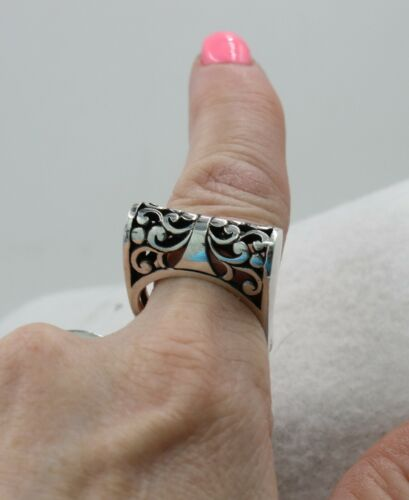 Details about  /Handcrafted Beautiful Unique Sterling Silver Filigree Ring Size 10 ~ Wore Once
