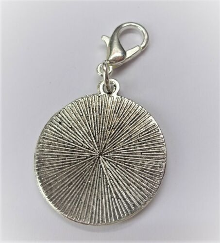 neckless ready to hang .925 Solid Silver Threepence coin bracelet charm