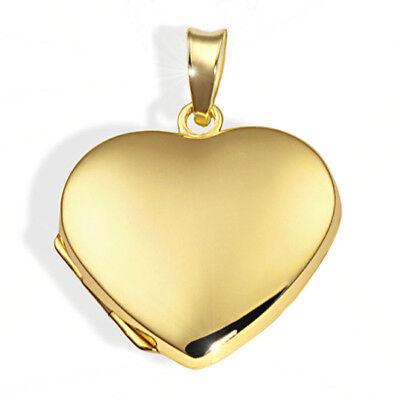 Goldmaid Anhänger 333er Gold Gelbgold Foto Medallion Amulett Goldmedallion Herz