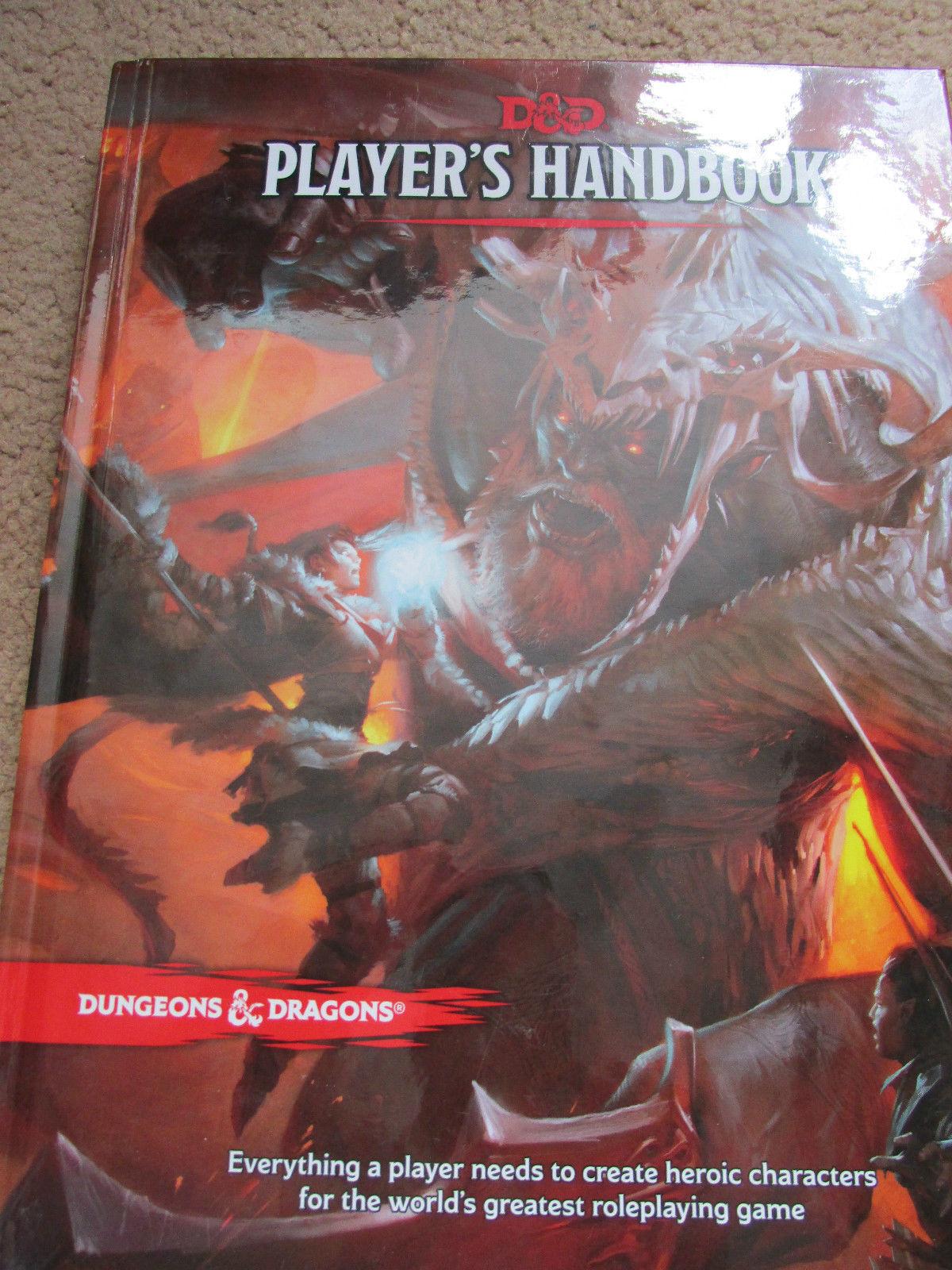 WOTC D&D 5E PHB uomoUALE giocatori di Dungeons  & Dragons RPG in buonissima condizione HB HC  prezzi eccellenti