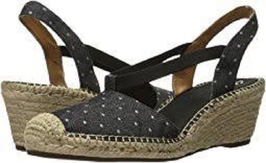 NWT CLARKS ARTISAN PATRINA KAELIE BLACK FABRIC ESPADRILLES SANDALS Schuhe SIZE 10