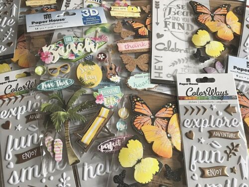 Decorations /& Embellishments Paper House Productions Scrapbooking Stickers