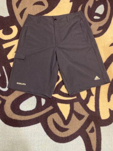 Men Adidas Bobcats 3 Stripe Coaches Shorts Blue XL