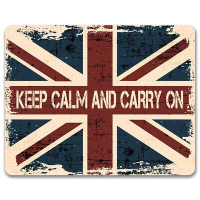 Keep Calm and Carry on Vintage métal signeUnion Jack Drapeau UKMan Cave decor