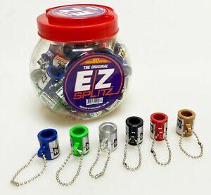 EZ-Splitz-Cigar-Cutter-Blunt-Splittern-Schluesselketten-60-CT-sortierte-Farben-klein