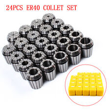 24pcs Er40 Collet Set Metric Size High Precision Spring Clamping Collet New Sale