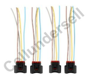 4 pcs ignition coil female connector plug harness for toyota lexus image is loading 4 pcs ignition coil female connector plug harness