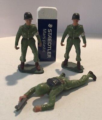 3 Soldatini Starlux Ottimi Come Da Foto (barellieri?) No Airfix No Atlantic Per Classificare Prima Tra Prodotti Simili