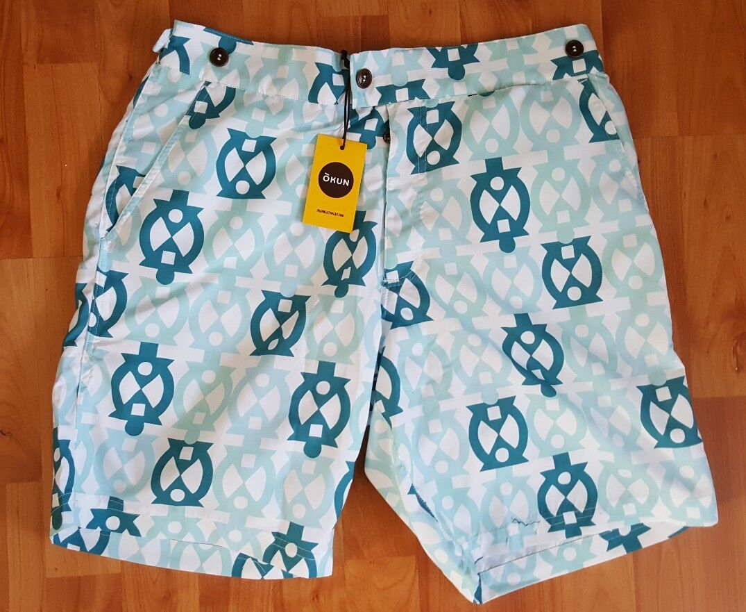 New ÓKUN Africa beach wear  Patrice 9 Swimming  Shorts Size M   RRP