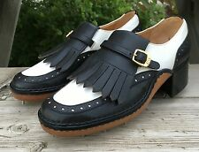 Vtg Gucci Golf Shoes Women's Size 36 B 5.5 Black White Leather Made In Italy