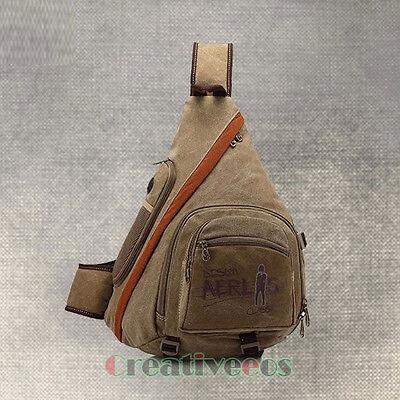 Men Canvas Travel Hiking Crossbody Messenger Shoulder Back pack Sling  Chest Bag