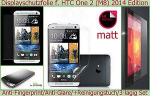 3 x matt Display Schutz Folie HTC One M8 2014 Handy Anti reflex glare Kratzfest