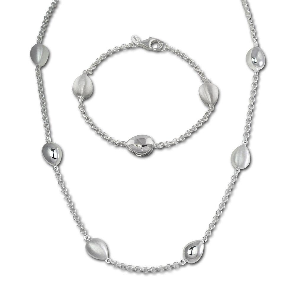 argentoDream argentoDream argentoDream Gioielli Set GOCCIA Collier & Bracciale argentoo 925 sds416 aa8d2c