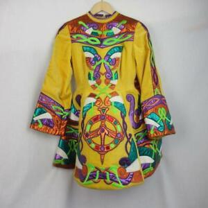 Girls-Irish-Dancing-Dress-Yellow-Embroidered-Tailor-Made-Ireland-Est-13-14-yrs