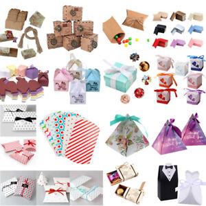 30 Style Papier Kraft Chocolat Bonbons Boîtes-cadeaux De Mariage Parti Favor Box-afficher Le Titre D'origine Pour Convenir à La Commodité Des Gens