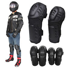 4 Pcs Motorcycle Racing Riding Knee/Shin Guard Pads Elbow Safety Protector Gear