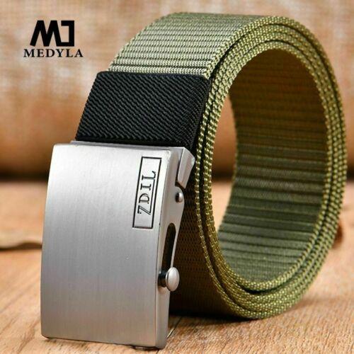 Male High Quality Nylon Belt Waist Cinto Unisex Automatic Buckle Military Fans